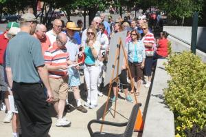 Nearly 400 attended the 2014 Downtown Walking Tour and learned about the history of Ashland.
